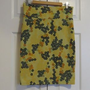 LuLaRoe Cassie Knit Pencil Skirt Yellow Sz Med